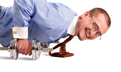 Businessman-pushups